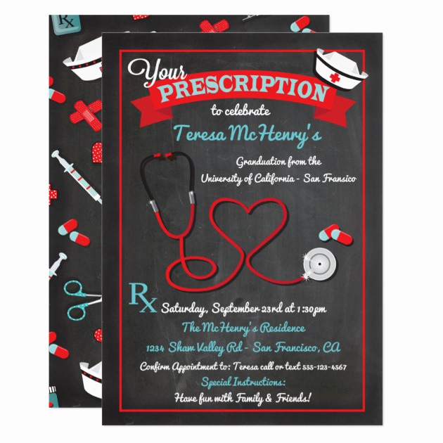 Medical School Graduation Invitation Lovely Personalized Pinning Ceremony Invitations