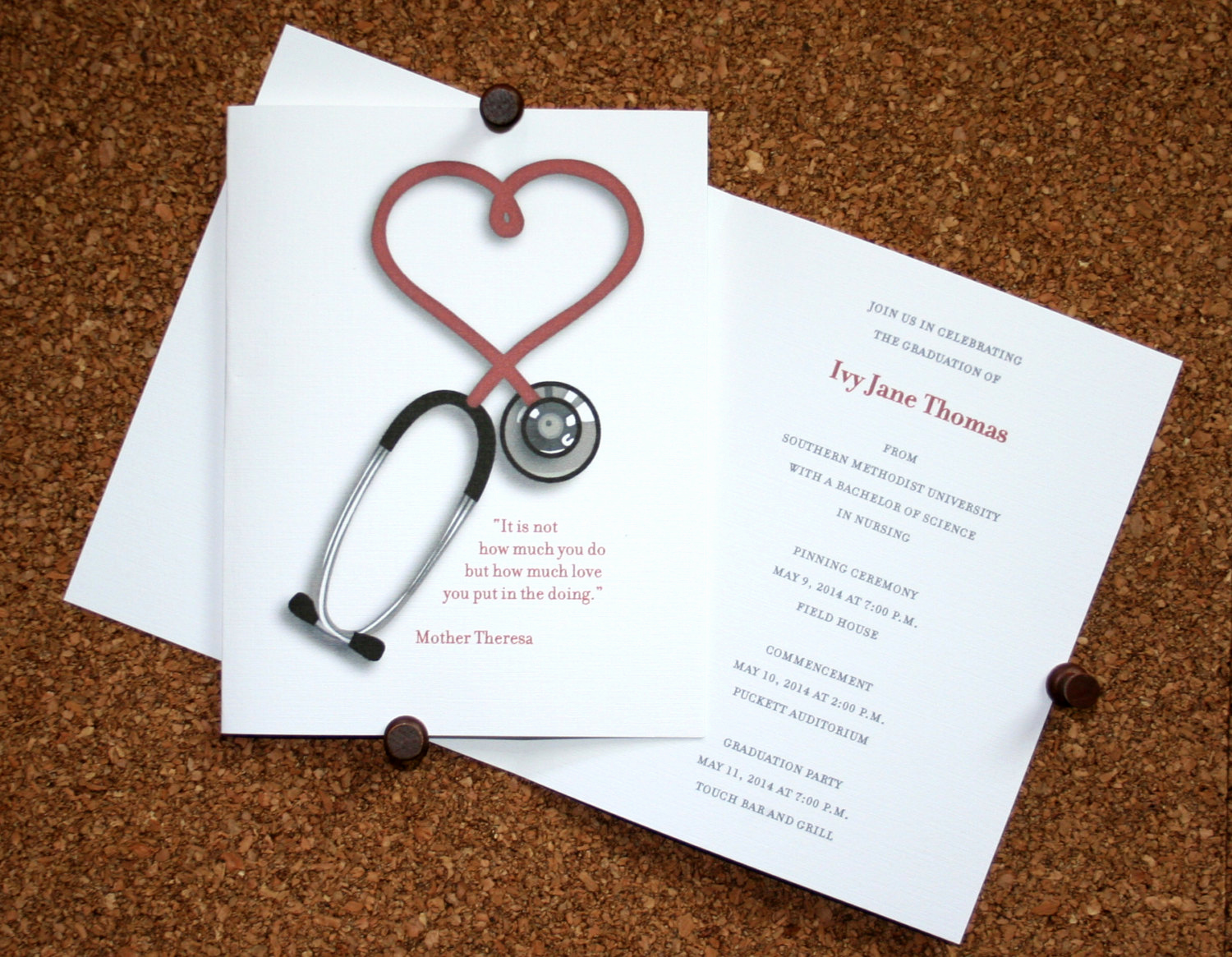 Medical School Graduation Invitation New Nursing Graduation Announcement Set Of 10 Medical School