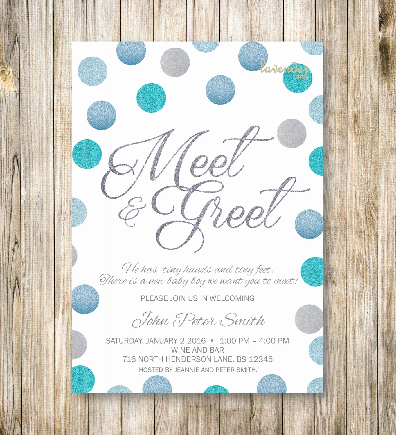 Meet and Greet Invitation Best Of Meet and Greet Invitation Silver Blue Glitters Meet the
