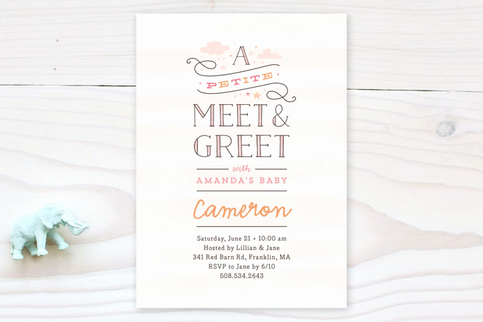 Meet and Greet Invitation Lovely Petite Meet & Greet Baby Shower Invitations by Jen
