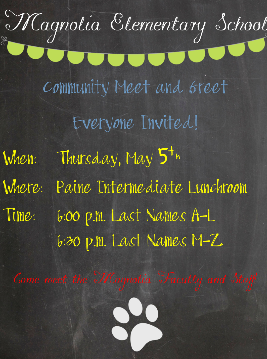 Meet and Greet Invitation Luxury Paine Intermediate Parent Updates Magnolia Elementary