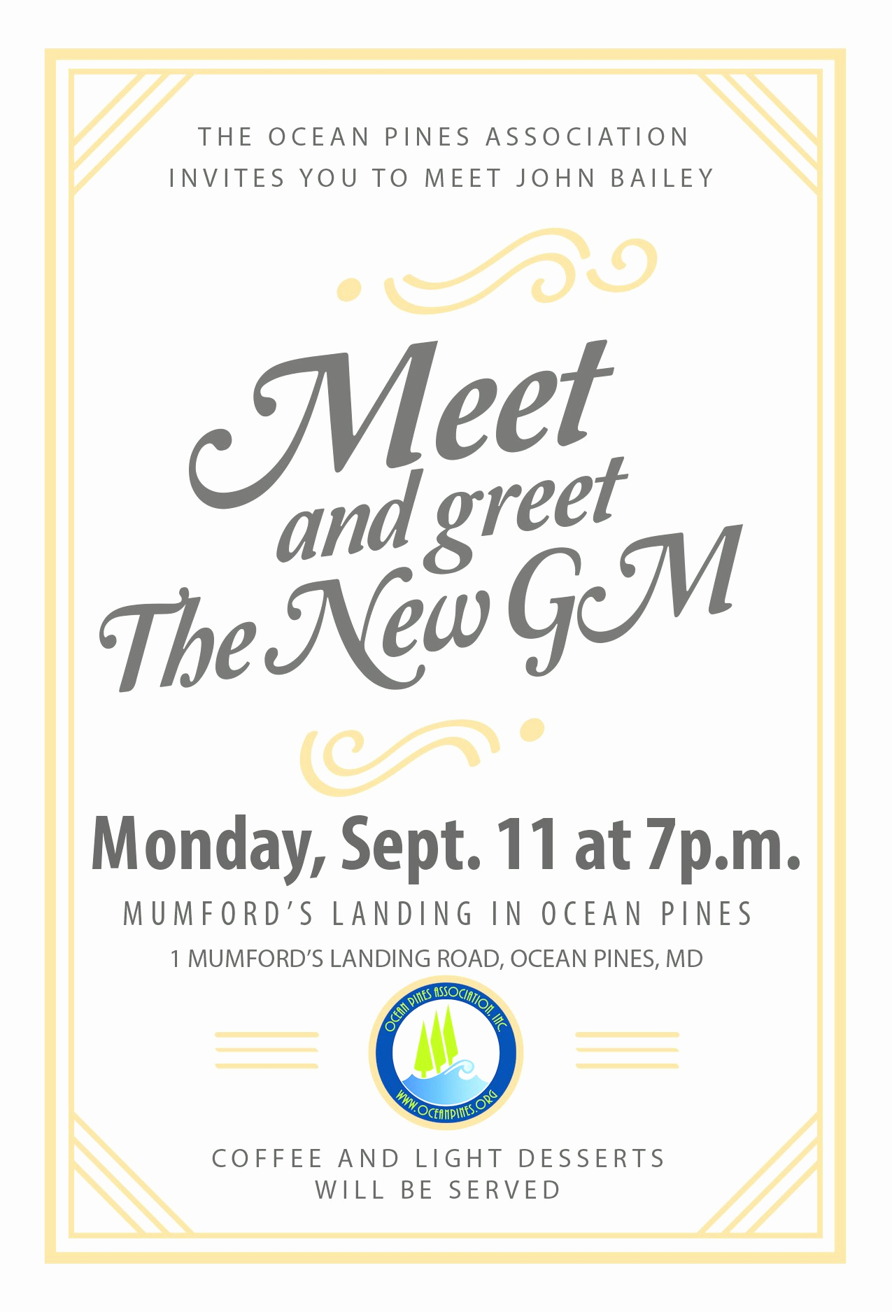 Meet and Greet Invitation New Meet & Greet New Gm