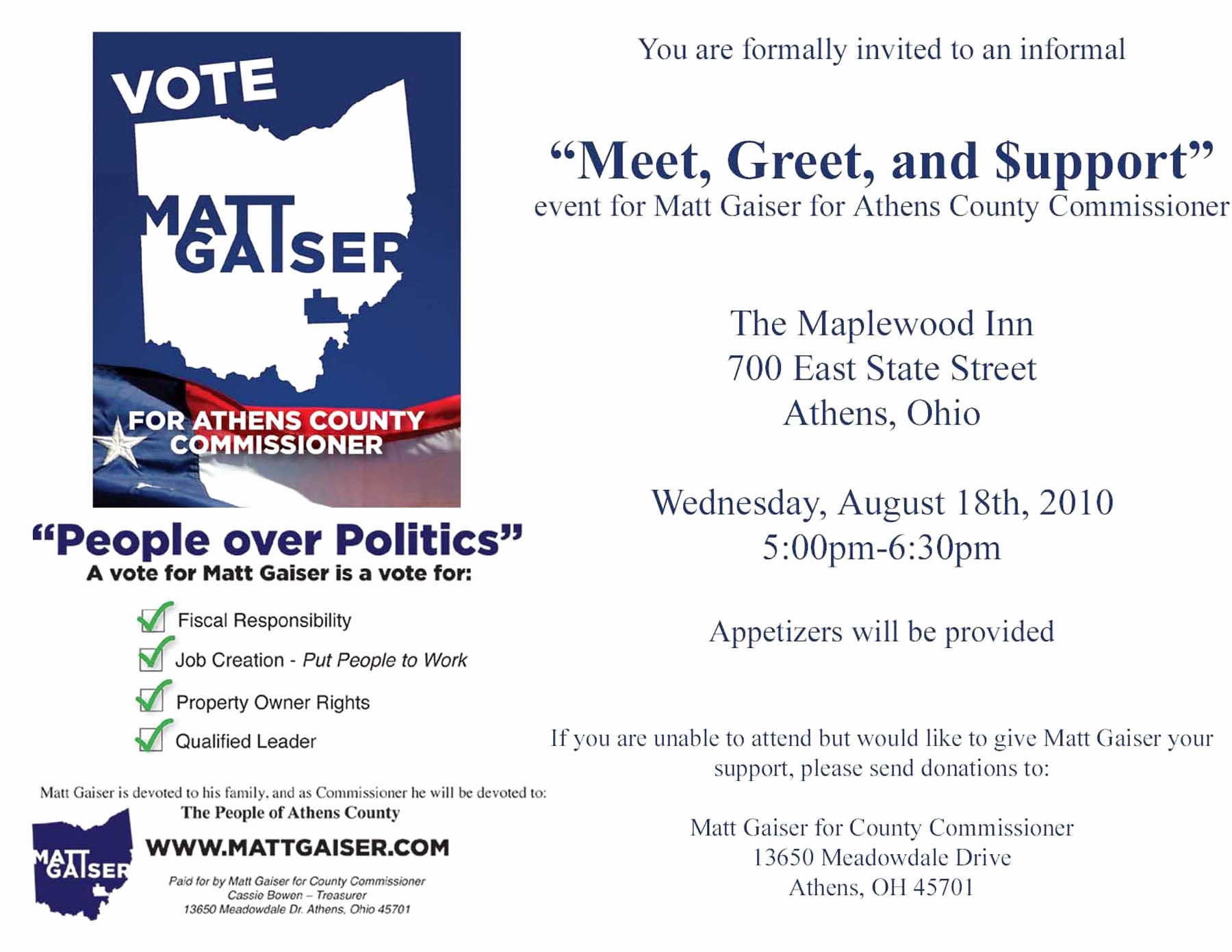 Meet and Greet Invitation Template Awesome Political Fundraiser Invitations