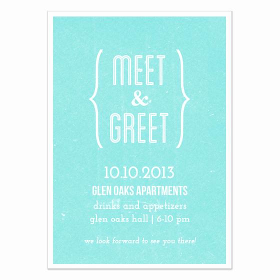 Meet and Greet Invitation Template Beautiful Meet and Greet Blue Invitations & Cards On Pingg