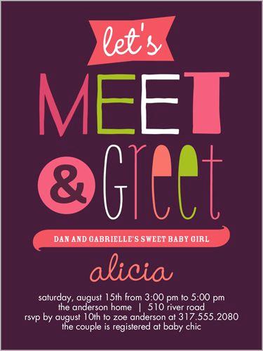 Meet and Greet Invitation Template Beautiful Meet and Greet Girl 4x5 Greeting Card