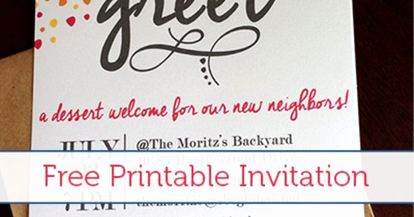 Meet and Greet Invitation Template Elegant Meet & Greet Free Printable Invitation