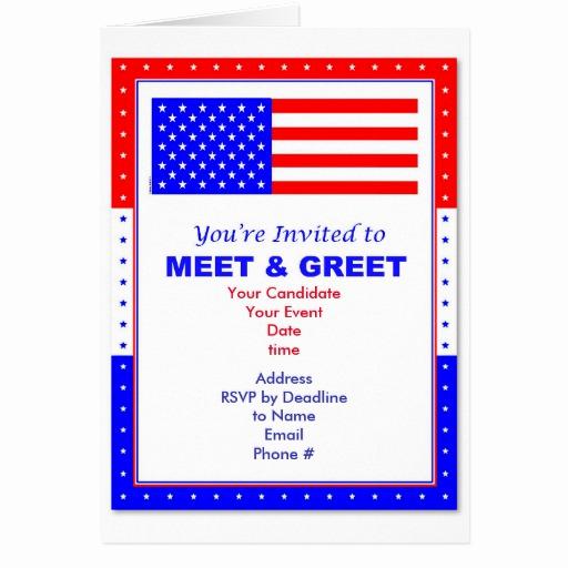 Meet and Greet Invitation Template Elegant Meet & Greet Political Invitation Greeting Card
