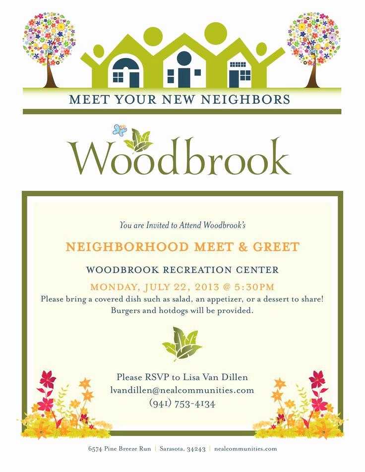 Meet and Greet Invitation Template Lovely Client Neal Munities Project Neighborhood Meet