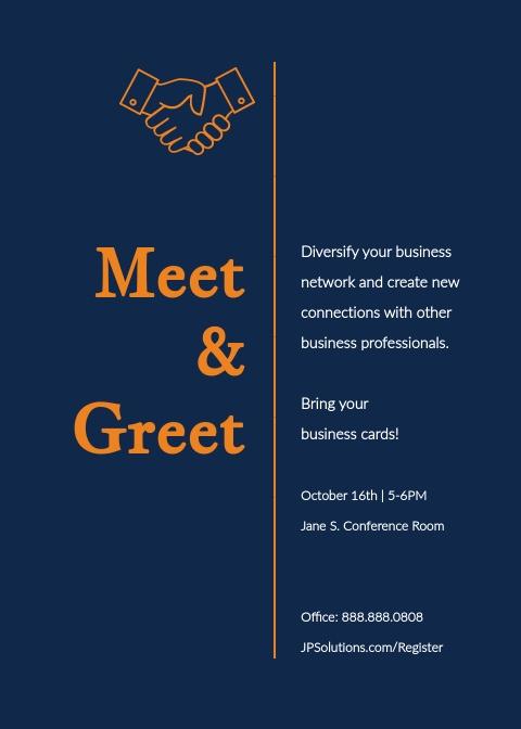 Meet and Greet Invitation Template Lovely Free Invitation Maker Invitation Generator