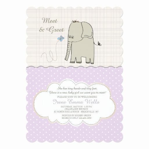 meet greet baby girl invitation