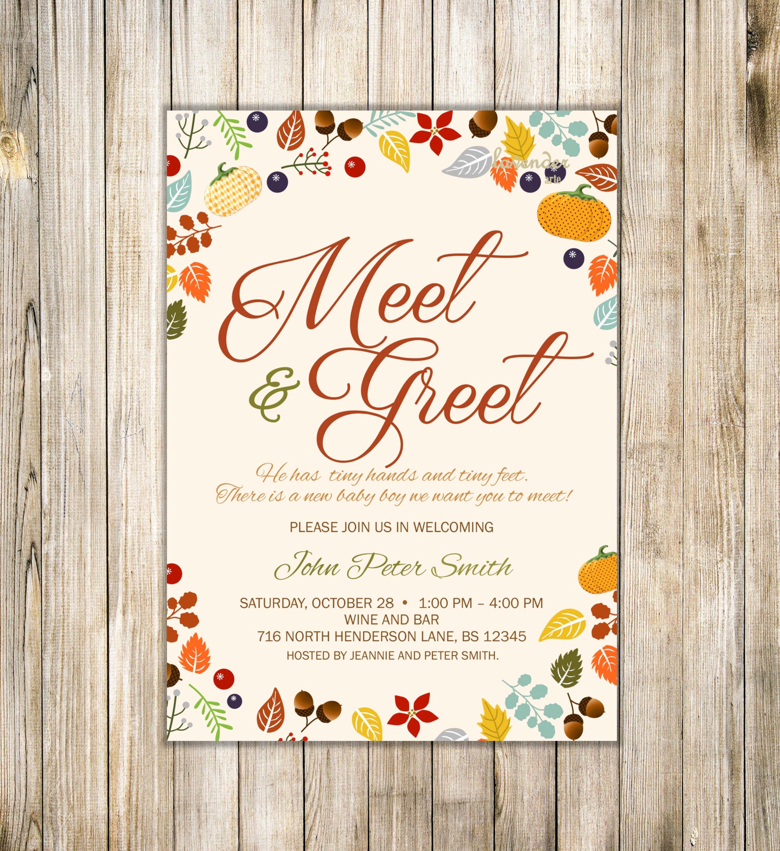 Meet and Greet Invitation Templates Beautiful Fall Meet and Greet Invitation Fall Meet the Baby Invite Sip
