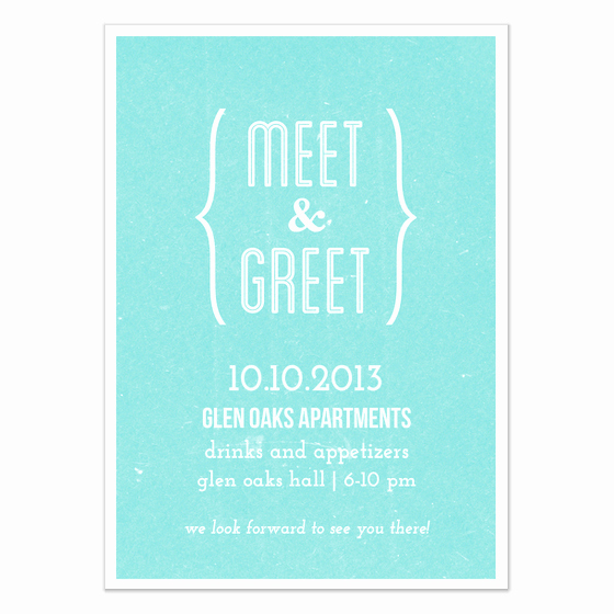 Meet and Greet Invitation Templates Beautiful Meet and Greet Blue Invitations & Cards On Pingg