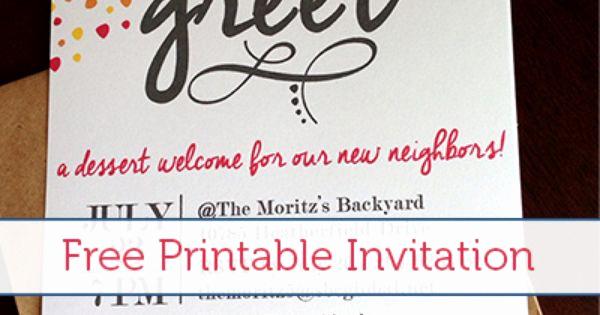 Meet and Greet Invitation Templates Elegant Meet & Greet Free Printable Invitation