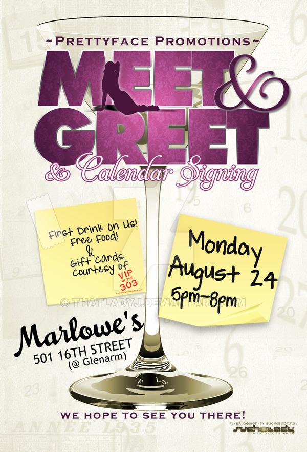 Meet and Greet Invitation Templates Fresh Meet N Greet Flyer by thatladyj On Deviantart