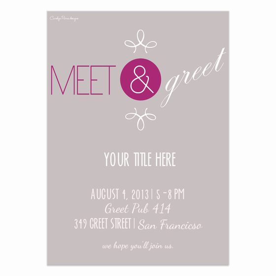 Meet and Greet Invitation Templates Inspirational Meet & Greet Invitations & Cards On Pingg