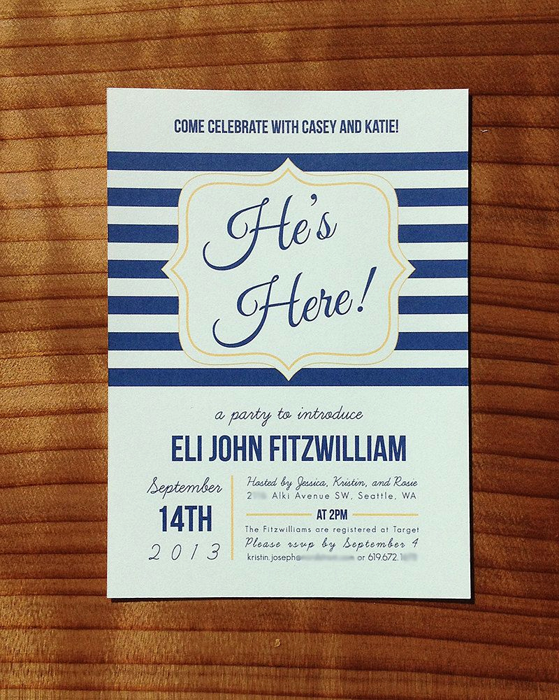 Meet and Greet Invitation Templates Lovely He S Here Baby Shower Meet and Greet Invitation
