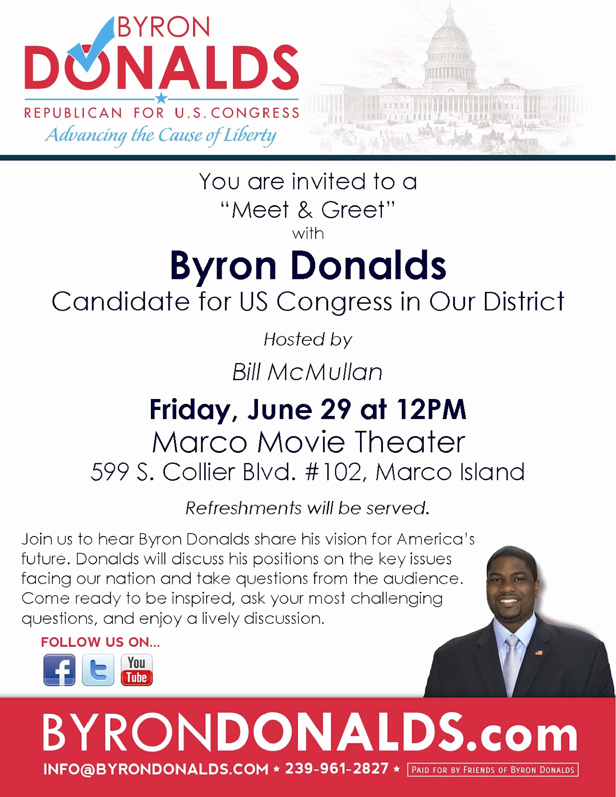Meet and Greet Invitation Templates Lovely Marco island Blog byron Donalds for Us Congress