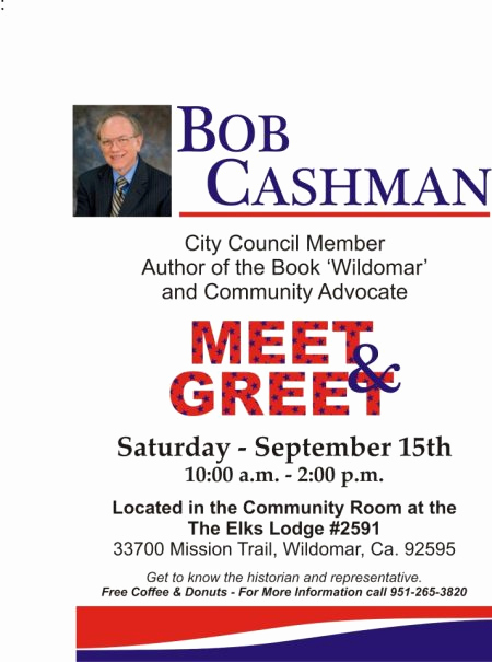 Meet and Greet Invitation Templates Luxury Cashman's Political Operative…