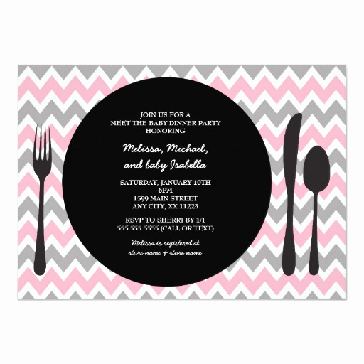 Meet and Greet Invitation Templates Unique Dinner Party Invite Meet the Baby Girl Shower