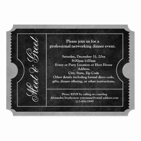 Meet and Greet Invitation Templates Unique Meet and Greet Business event Ticket Invitations