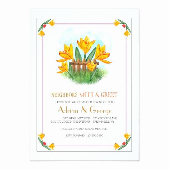 Meet and Greet Invitation Templates Unique Yellow Crocus Meet and Greet Invitation