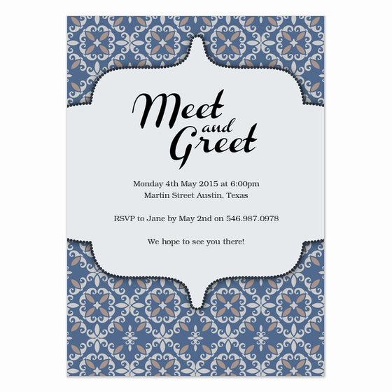 Meet and Greet Invitation Unique Meet and Greet Invitations & Cards On Pingg
