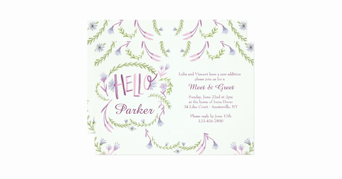 Meet and Greet Invitation Wording Awesome Hello Baby Meet and Greet Invitation
