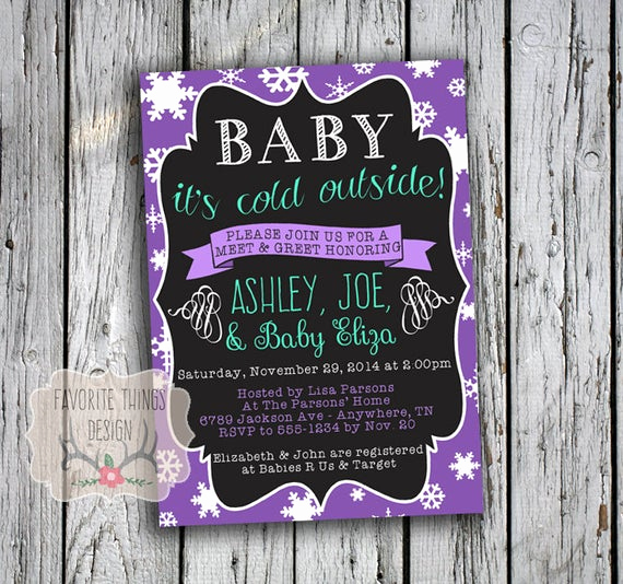 Meet and Greet Invitation Wording Awesome Meet & Greet Baby Shower Invitation Baby It S Cold
