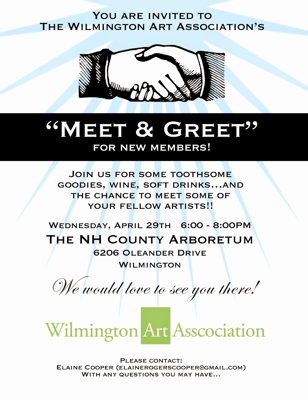 Meet and Greet Invitation Wording Beautiful Wilmington Art association Eblast Meet and Greet Invitation