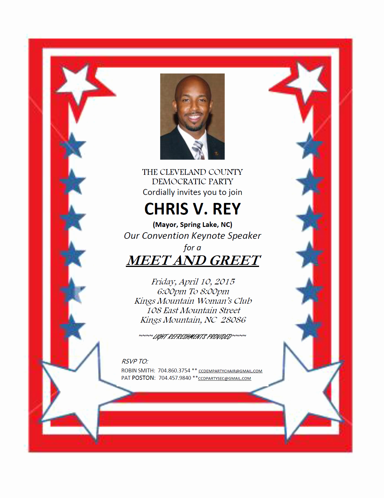 Meet and Greet Invitation Wording Inspirational Invitation Rey Meet and Greet Cleveland Dems