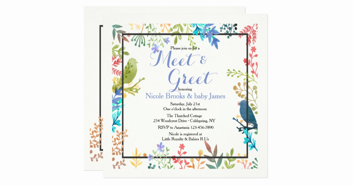Meet and Greet Invitation Wording Inspirational Spring Frame Meet & Greet Invitation
