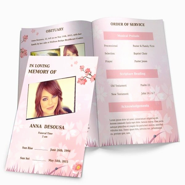 Memorial Service Invitation Template Free Awesome Cherry Blossom