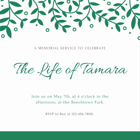 Memorial Service Invitation Template Free Awesome Customize 40 Funeral Invitation Templates Online Canva