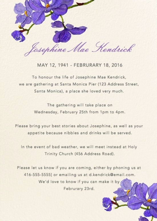 Memorial Service Invitation Template Free Best Of 39 Best Funeral Reception Invitations