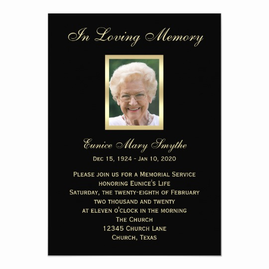 Memorial Service Invitation Template Free Fresh Memorial Service Announcement Invitations