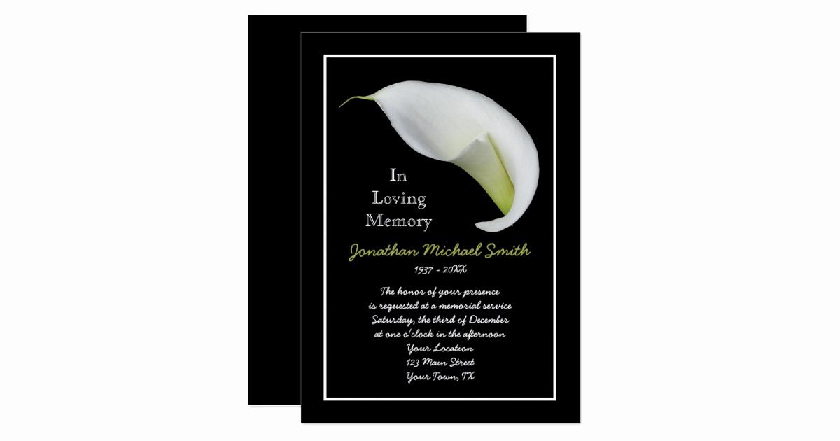 Memorial Service Invitation Template Free Fresh Memorial Service Invitation Announcement Template