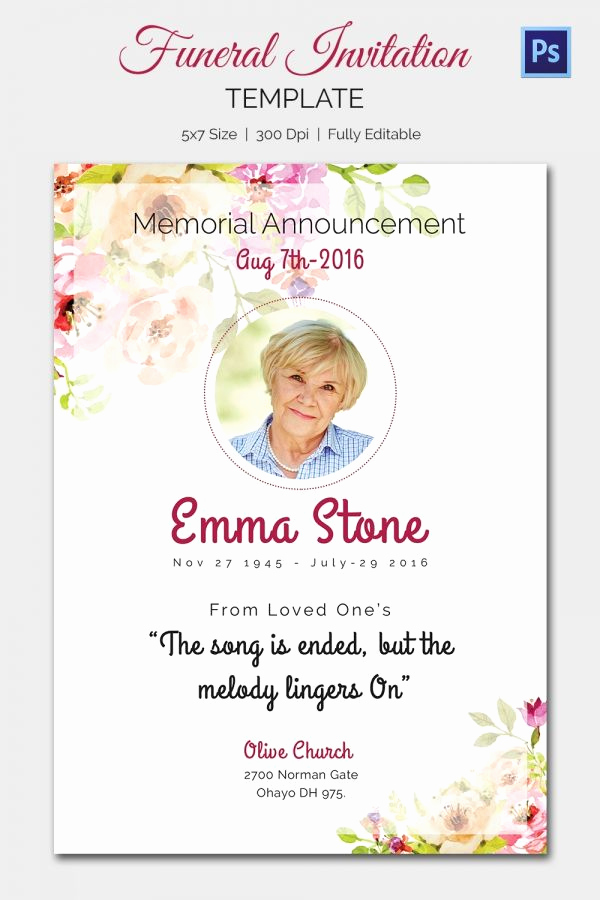 Memorial Service Invitation Template Free Lovely Pin by Wendy On Dorothy