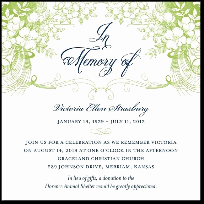 Memorial Service Invitation Template Free Luxury 27 Best Memorial Announcements Images On Pinterest