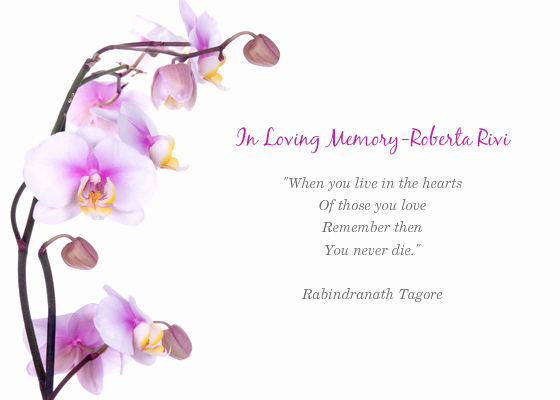 Memorial Service Invitation Template Free Luxury Memorial Service for Roberta Line Invitations & Cards