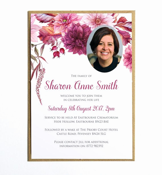 Memorial Service Invitation Template Free Unique Pin by Marilynn Robinson On Recipes