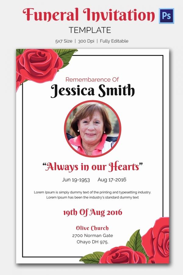 Memorial Service Invitation Template Fresh Funeral Invitation Template – 12 Free Psd Vector Eps Ai