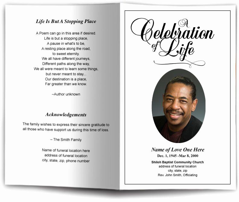 Memorial Service Invitation Template Luxury Funeral Program Obituary Templates