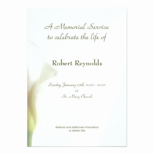 Memorial Service Invitation Template New 1 000 Memorial Service Invitations Memorial Service
