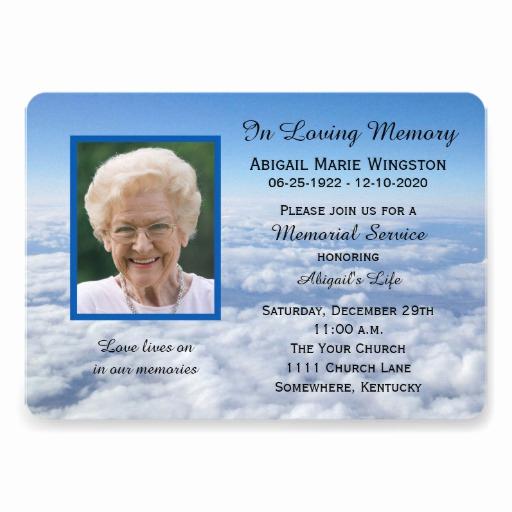 Memorial Service Invitation Template Unique 1 000 Memorial Service Invitations Memorial Service