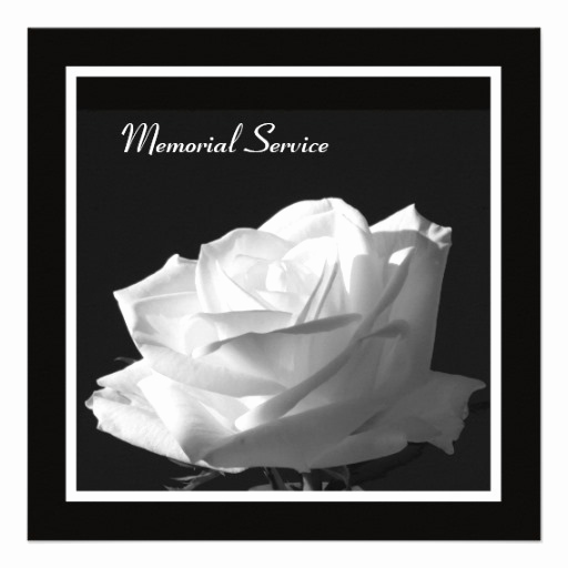 "Memorial Service Invitation Wording Best Of Memorial Service Beautiful Rose Invitation 5 25"" Square"