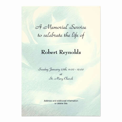 Memorial Service Invitation Wording Best Of Personalized In Memoriam Invitations