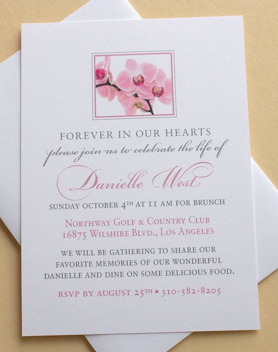 Memorial Service Invitation Wording Elegant 27 Best Memorial Celebration Of Life Ideas Images On