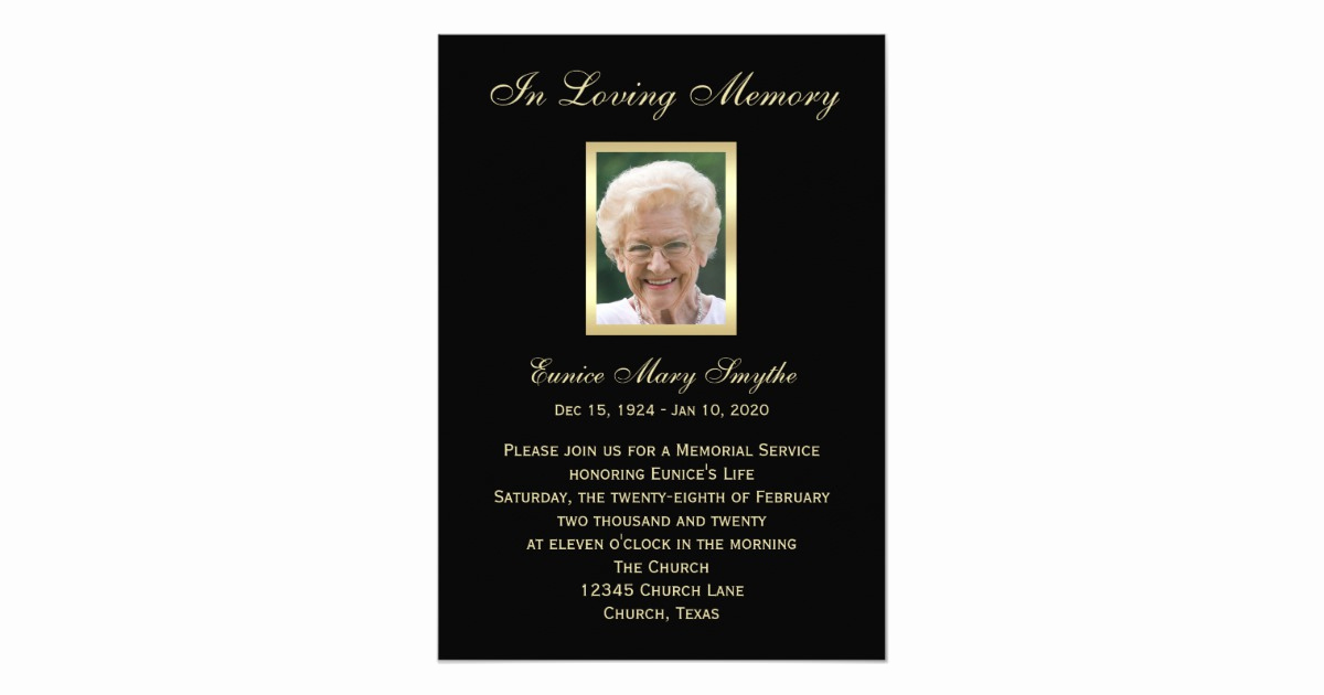Memorial Service Invitation Wording Elegant Memorial Service Announcement Invitations