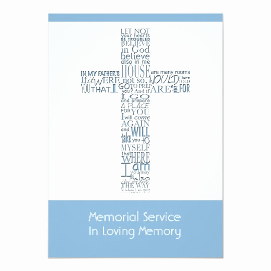 Memorial Service Invitation Wording Fresh Memorial Service Invitations