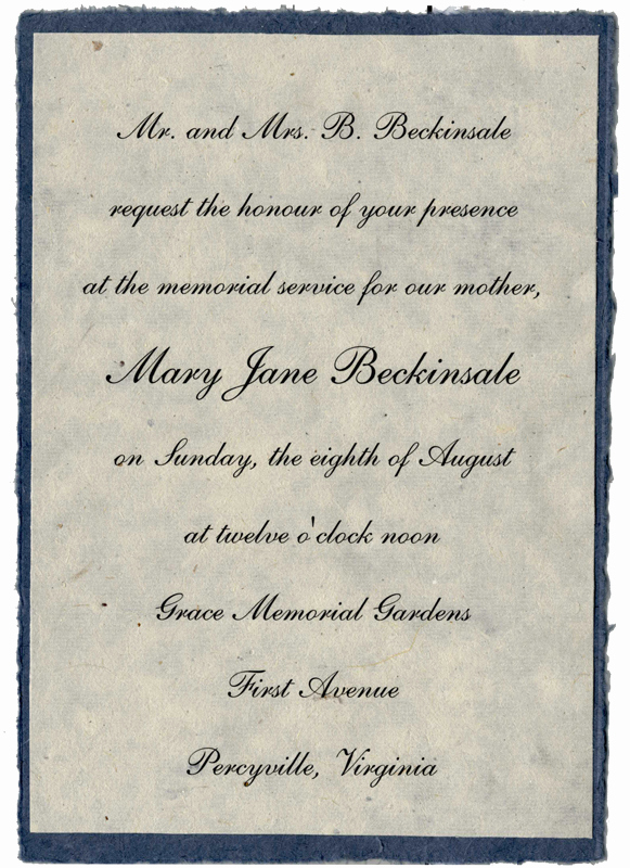 Memorial Service Invitation Wording Lovely Best S Of Wording for A Memorial Service Sample
